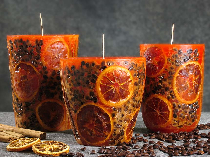 Декоративные свечи своими руками фото